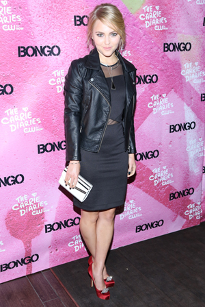 Annasophia Robb wearing a little black dress