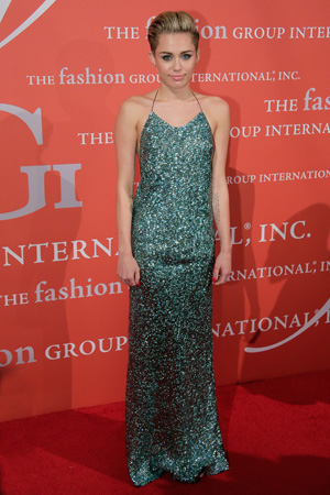 Miley Cyrus at a Fashion Group International event