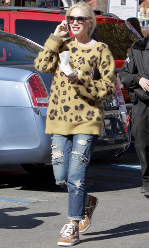 Get the look: Gwen Stefani's wild sweater