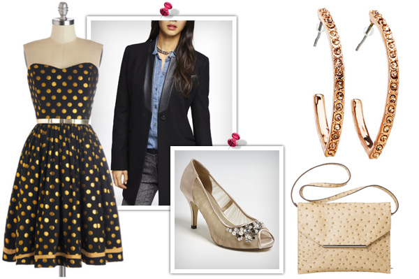 Kerry Washington's black and gold dress -- Get the look!