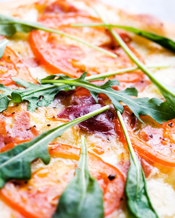 Healthy slice of pizza