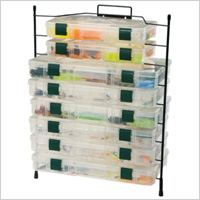 modular utility racks and clear boxes