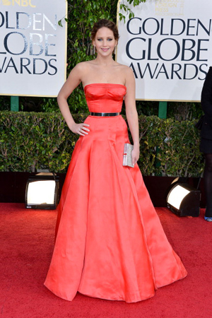 jennifer lawrences best red carpet looks Golden Globes