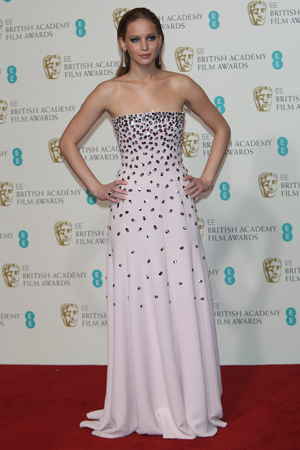 jennifer lawrences best red carpet looks 2013 EE British Academy Film Award