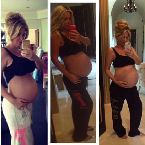 Pregnant Kim Zolciak - twins