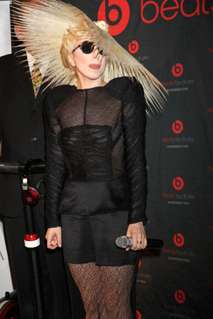 lady gaga craziest hairstyles straw hat