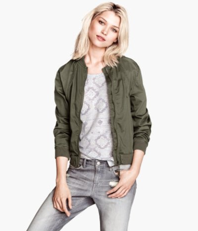 Military-inspired jacket