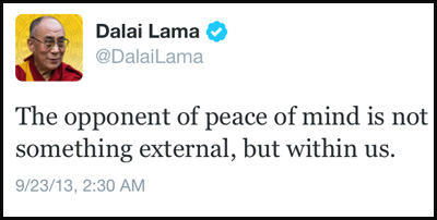 Inspirational tweet from the Dalai Lama