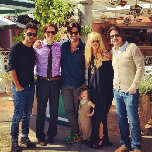 Pregnant Rachel Zoe with Rodger and Skyler