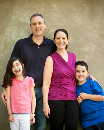 Jane Schwartzberg and family