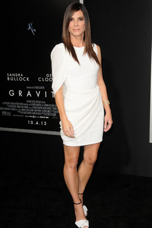 Sandra Bullock at the Gravity premiere