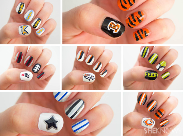 Yeehaw for football-themed nails!