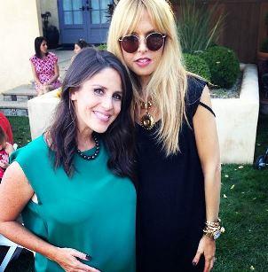 Pregnant Soleil Moon Frye and pregnant Rachel Zoe