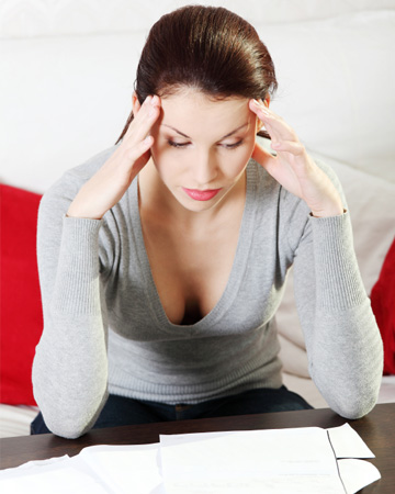 Woman stressed over bills