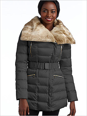 Laundry by Shelli Segal Winged Collar Belted Puffer Coat (Lord & Taylor, $175)