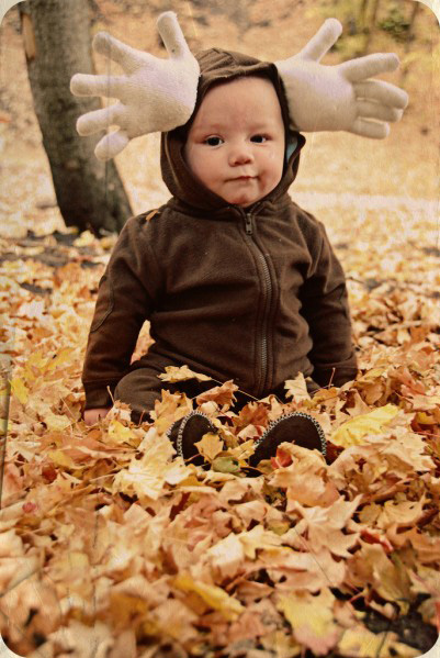 Moose baby costume