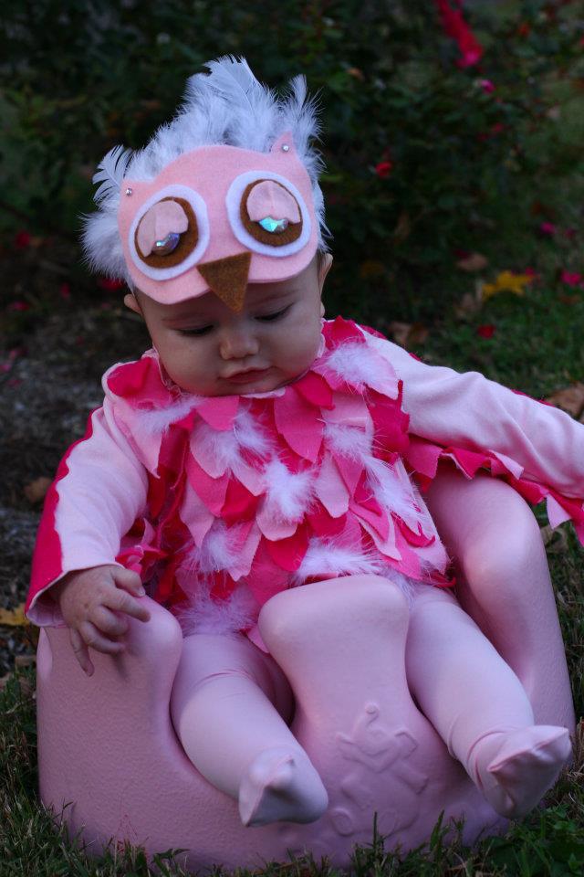 No-sew baby owl costume