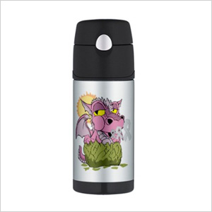 Breast Cancer Baby Dragon Thermos Bottle