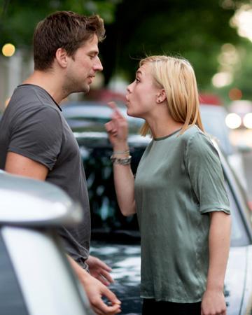Woman scolding boyfriend