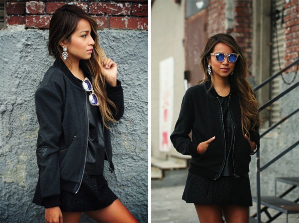Top bloggers model the bomber