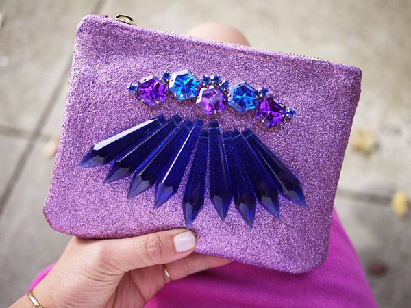 Glitter Crystal Clutch