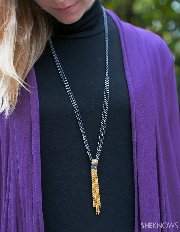 6 Steps to creating a tassel necklace