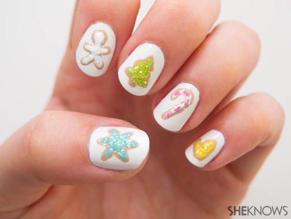 Cookie swap party nails | Sheknows.com -- final result