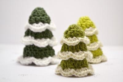Crocheted trees