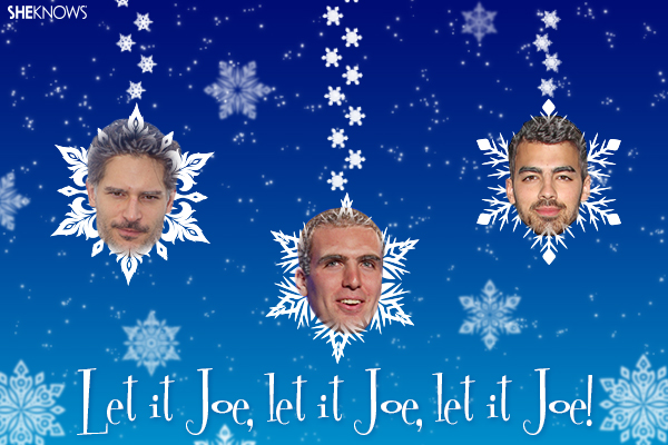 Celebrity Joe Christmas card