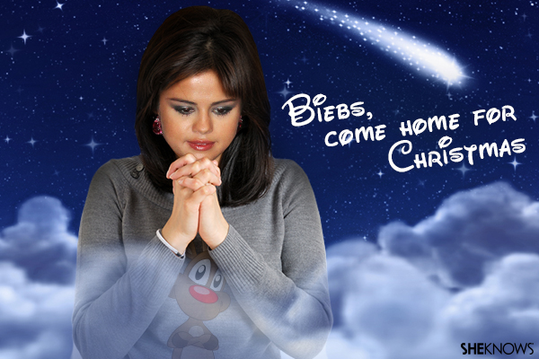 Selena Gomez Christmas card
