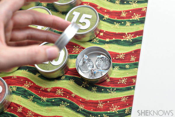 DIY Advent calendar - Add candy