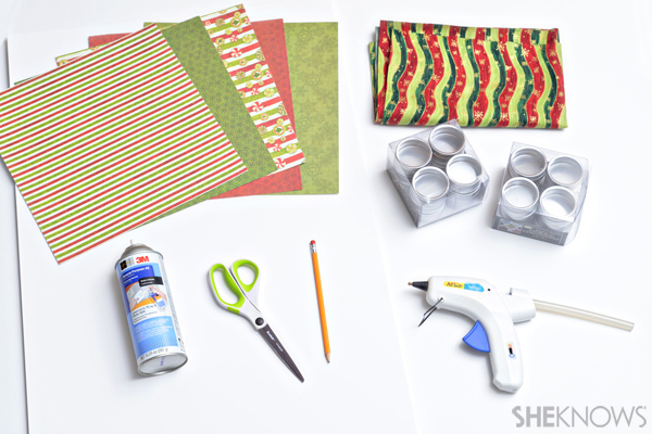 DIY Advent calendar supplies