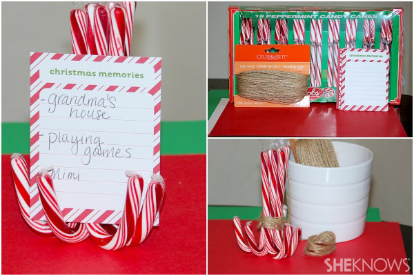 Sit and share candy can place cards