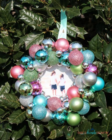 Christmas ornament frame