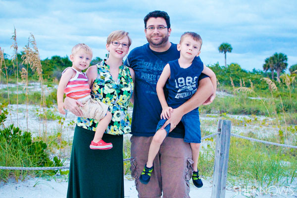 Kim Rosas and family