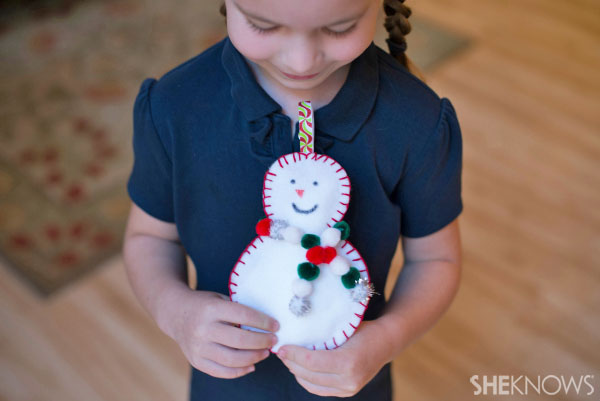 Sew-man snowman craft