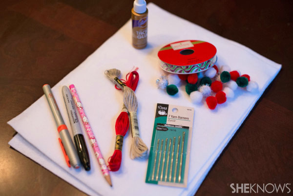 Sew-man snowman craft materials