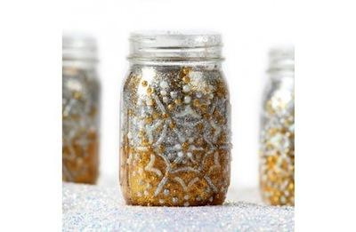 Light Up the Night glitter jars