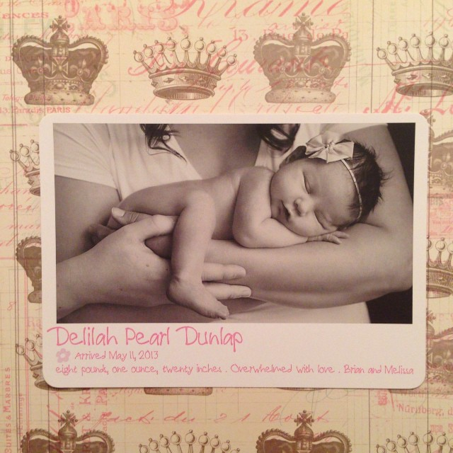 Melissa Dunlap | Photo birth announcement