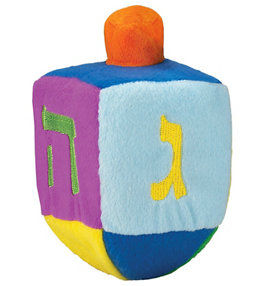 Plush dreidel toy