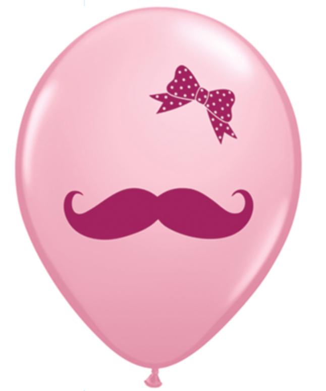 mustache balloon