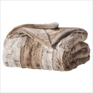 Threshold faux fur throw