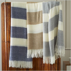 Chenille chevron throw