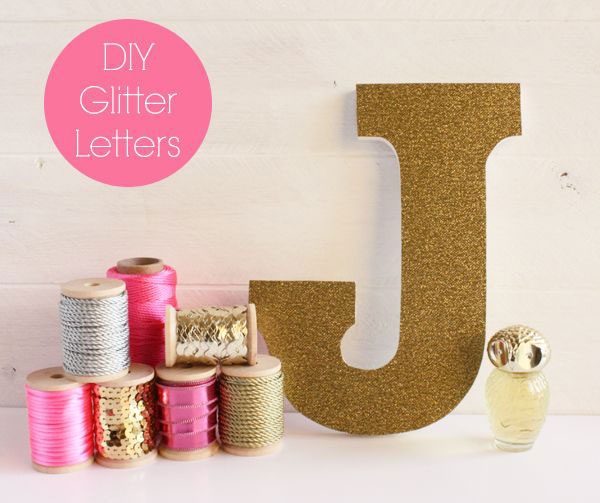 Glittered letters