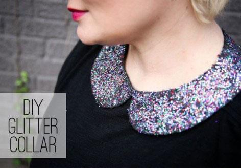 Glittered collar