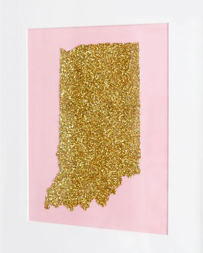 Glitter state art