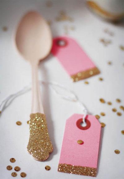 Glittered utensils