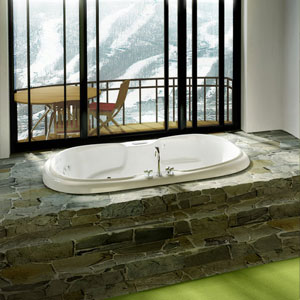 Large whirlpool tub
