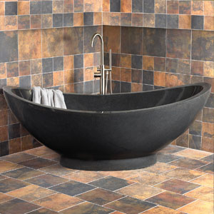 Stone soaking tub