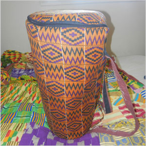 Djembe with carrying case